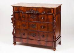 A Romantic era chest of drawers