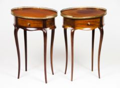 A Louis XV style pair of gueridons