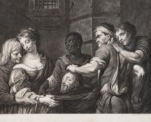 """""""Herodiade""""Black ink print on paper Engraved by Quirin Marck (1753–1811) after a drawing by Theo"""
