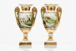 A pair of Empire taste amphorae