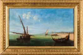 A Marine paintingOil on canvas Signed and datedNote to back referring the collection of King
