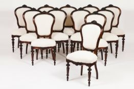 A set of twelve Romantic era chairs