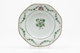 An heraldic soup plate