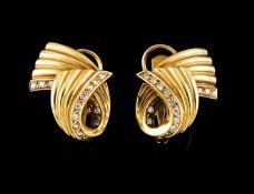 A pair of earrings
