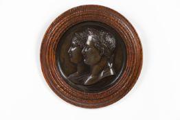 Atelier de Jean-Bertrand Andrieu (1761-1822)Napoleon and the Empress Marie LouiseA bronze low-re