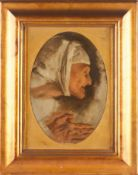 Domingos Sequeira Attrib. (1768-1837)Head of a Old WomanOil on canvasWith certificate issued
