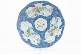 A scalloped plate