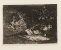"""Francisco de Goya (1746-1828)""""Nada ello dirá""""Black ink print on paper 18th /19th centuryOne"""