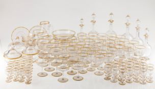 A Baccarat crystal glass setCrystal Baccarat 134 pieces: 22 red wine glasses, 21 white glass gla