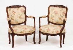 A pair of French taste D.José fauteuils