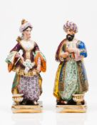 "Pair of perfume bottles ""Sultana and Sultan"""