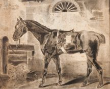 Pilar Huerta (XX)A portrait of a horseChalk on paper Signed and dated 19-10-193846x58cm<