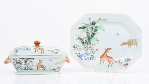 A rare tureen with platter
