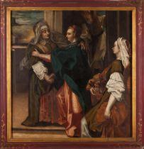 Portuguese school, 16th / 17th centuryThe Visitation of the Virgin to Her cousin, Saint Elizabeth