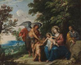 European school, 19th centuryThe Virgin Mary, The Child Jesus, Saint Joseph and John the Baptist