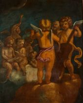 European school, 19th centuryAn Allegory to music and to literature A pair of oils on canvas91x69 cm