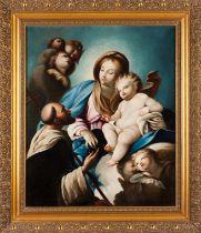 Italian school, 18th / 19th centuryThe Virgin of the Rosary Oil on canvas84x70 cm
