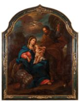 Portuguese school, 18th centuryThe flight to Egypt Oil on canvas in its contemporary frame146x117