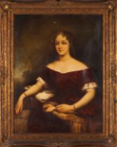 European school, 19th / 20th centuryA portrait od a lady Oil on canvas (minor faults and loses)99x78