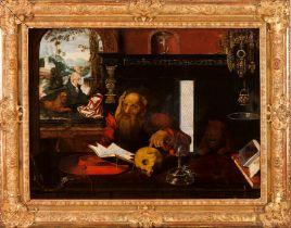 Follower of Joos van CleveFlemish school, 16th century Saint Jerome Oil on board78x109 cm