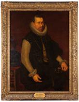Peter Paul Rubens follower (1577-1640)Portrait of Archduke Albert of Austria, Viceroy of Portugal