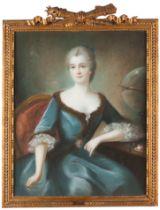 French school, 18th centuryPortrait of Gabrielle Émilie Le Tonnelier de Breteuil, marchioness of