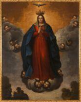 Spanish school, 18th centuryThe Assumption of the Virgin Mary Oil on canvas180x140 cm