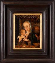 Flemish school, 16th centuryThe Nursing Madonna Oil on board