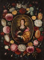 Portuguese school, 17th / 18th centurySaint Apollonia Oil on copper23x17,5 cm