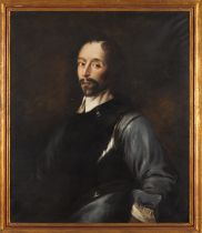European school 19th centuryA courtier Oil on canvas (minor faults)106x90 cm