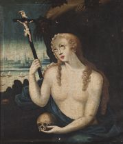 Portuguese school, 16th centuryThe Penitent Mary Magdalene Oil on canvas65x56 cm