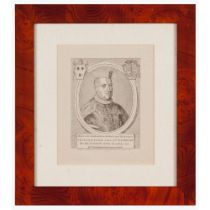 """Aloysus de Sousa Lusitanus Archiepiscopus Vlyssiponensis...""Black ink print on paper From the"