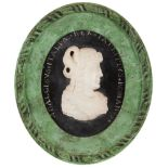 A pair of medallionsMarble Depicting profiles of Adalgise Prince of Lombardy and classical
