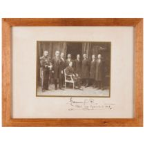 King Manuel II of Portugal with some of his councillorsA photograph on paper and cardboard Studio