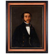 European school, 19th centuryA portrait of a gentleman Oil on canvas70x52 cm