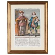 Portraits of Christian IV of Denmark and of Frederic Christian, heir of Norway and Duke of