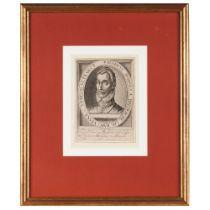 """Henricus Dominus a Brederode""Black ink on paper print Holland, ca. 161418x12,5 cm"