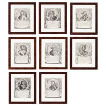 Counts of the House of SavoyA set of eight black ink prints on paper Depicting: Amadeo I (ca.925-