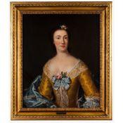 French school, 18th centuryPortrait of a lady Oil on canvas75x62cm