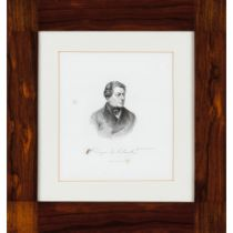"""""""1º Duque de Palmella""""Print on paper (spotting)18x16 cm"""