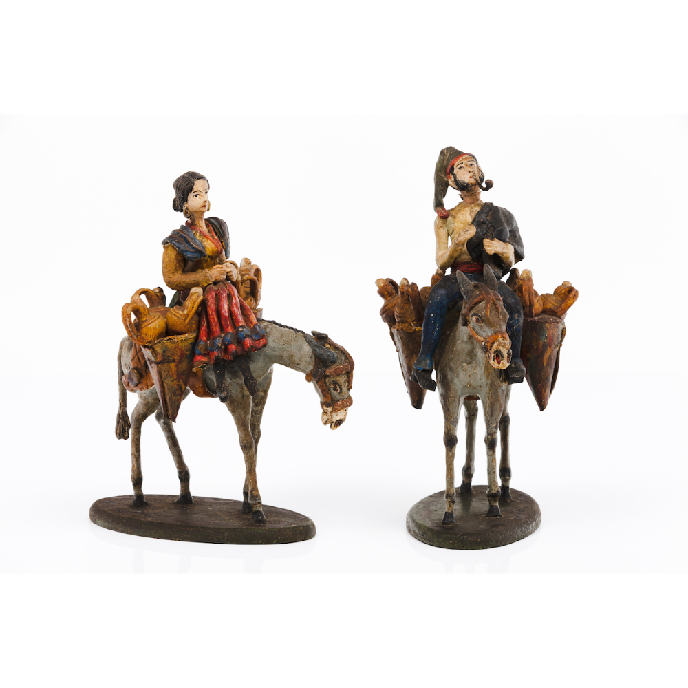 A couple of water sellersSculptures in plaster, wood and other materials Polychrome decoration (