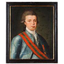Prince João (future João VI, king of Portugal) and Princess Carlota JoaquinaA pair of oils on