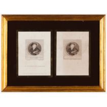 """""""Henry Eldest Son of Charles Brandon Duke of Suffolk""""A pair of black prints on paper After Hans"""