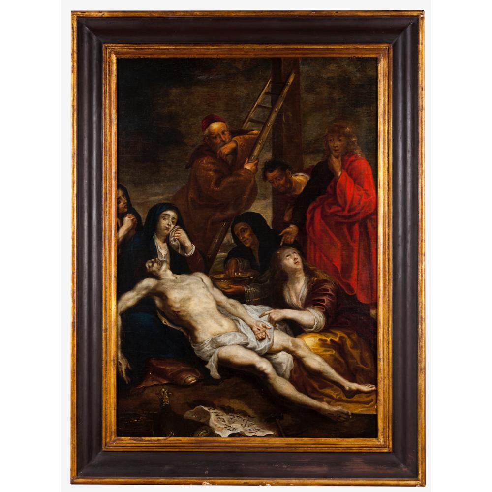 European school, 17th / 18th centuryThe Descent of The Cross Oil on canvas115x80 cm