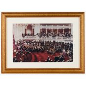 The Acclamation of King Manuel IIPhotograph on paper Modern copy19x30cm