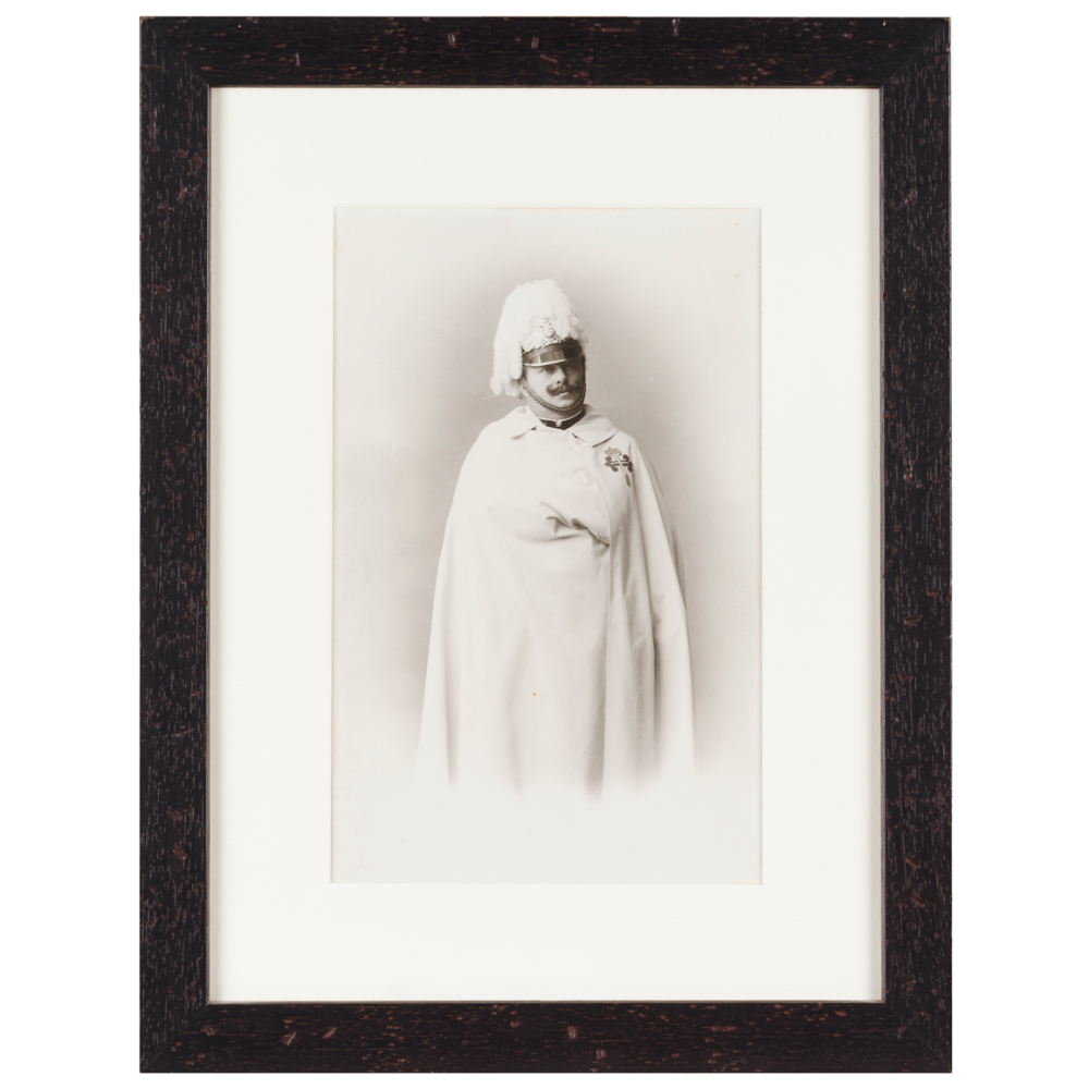 A photograph of King Carlos I of PortugalPhotograph on paper and cardboard King Carlos attired in