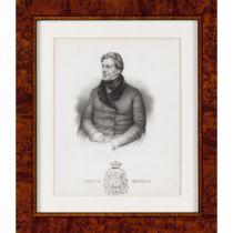 """""""Duque de Palmela""""Lithograph on paper 20x16,5cm"""