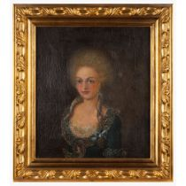 Portuguese school, 18th century (3rd quarter)Portrait of Queen Carlota Joaquina, consort to King