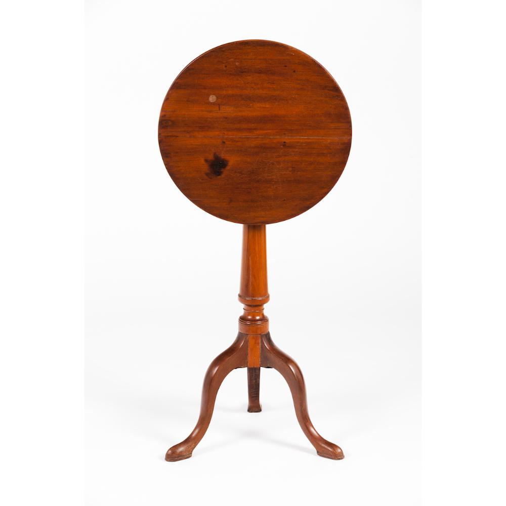 A D. Maria style tripod tableBrazilian mahogany Tilt top, turned shaft and sleeper feet Portugal,