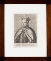 """AFONSVS PORTVGALLIAE REX III (...)""Print on paper Possibly by Joanne Caramuel Lobkowitz Ca. 1639 ("